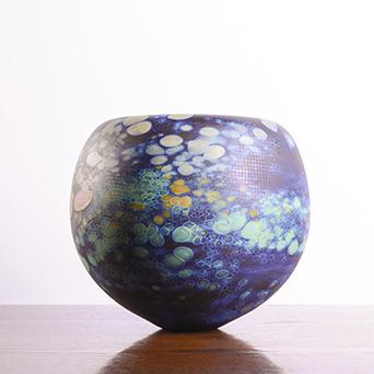Blue Speckled Form